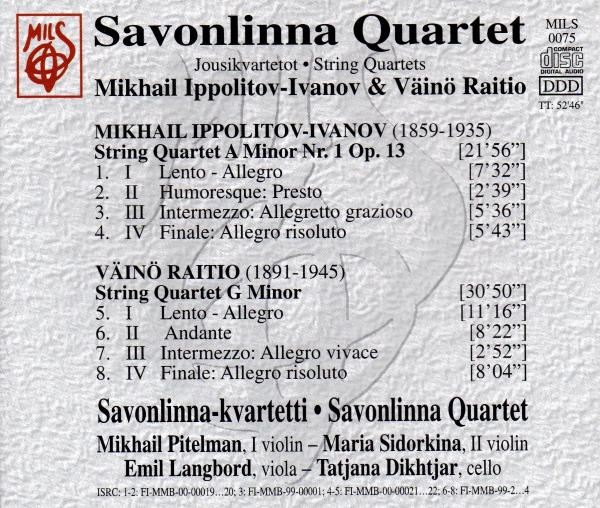 Savonlinna Quartet - Ippolitov-Ivanov