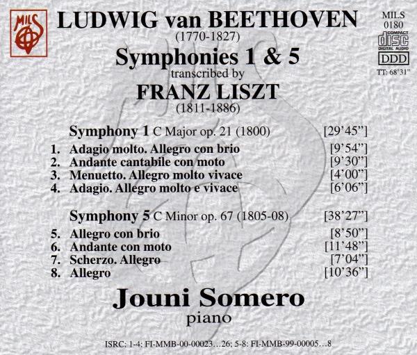 Beethoven - Symphonies 1 & 5