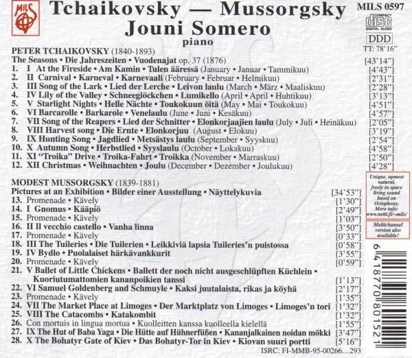 Tchaikovsky Mussorgsky