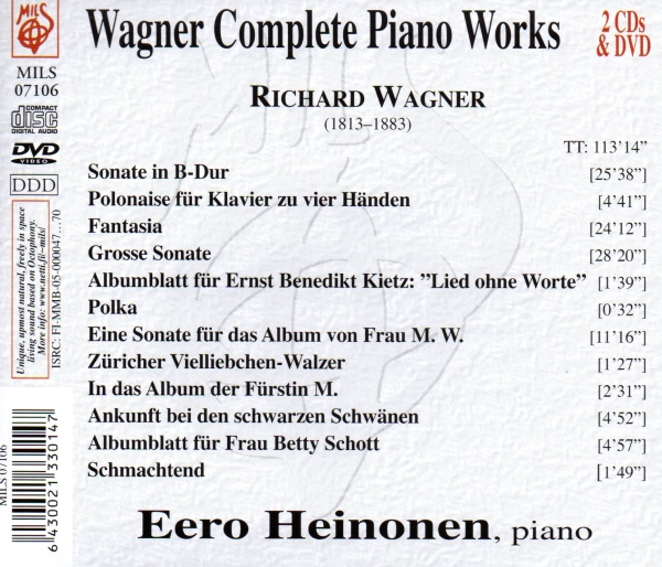Wagner Complete Piano Works