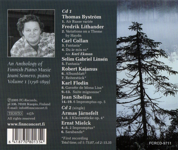 An Anthology of Finnish Piano Music 1