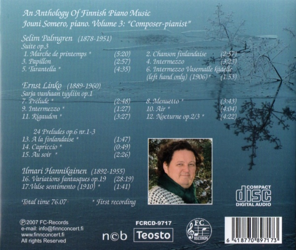 An Anthology of Finnish Piano Music 3