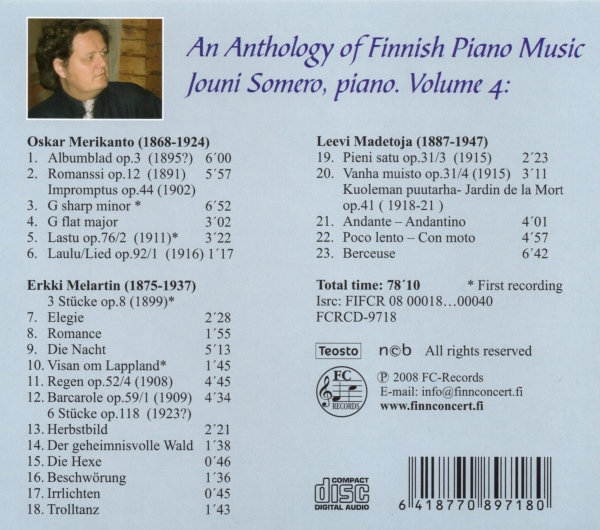 An Anthology of Finnish Piano Music 4