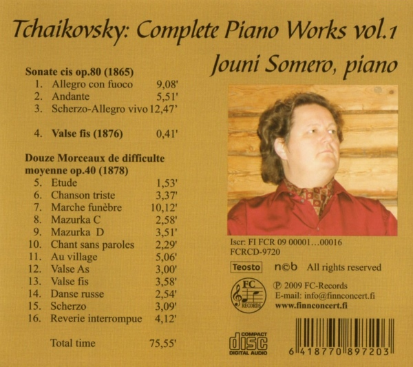 Tchaikovsky - Complete Piano Works 1
