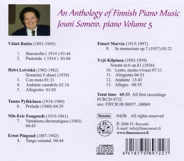 An Anthology of Finnish Piano Music 5