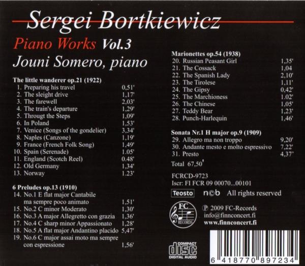 Sergei Bortkiewicz - Piano Works 3