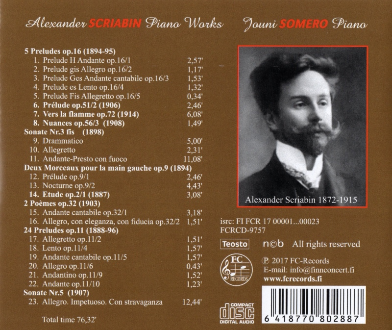 Alexander Scriabin Piano Works