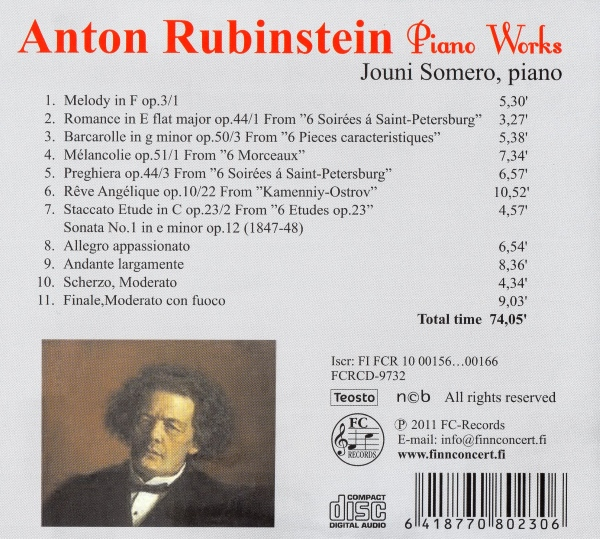 Anton Rubinstein - Piano Works
