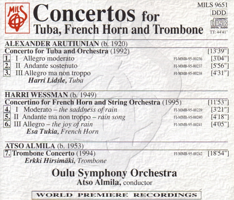 Concertos for Tuba, French Horn and Trombone