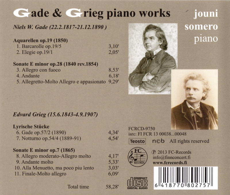 Gade & Grieg Piano Works