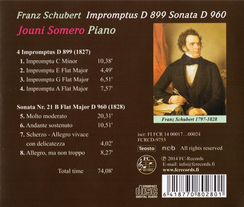 Schubert Impromptus D 899 & Sonate D 960