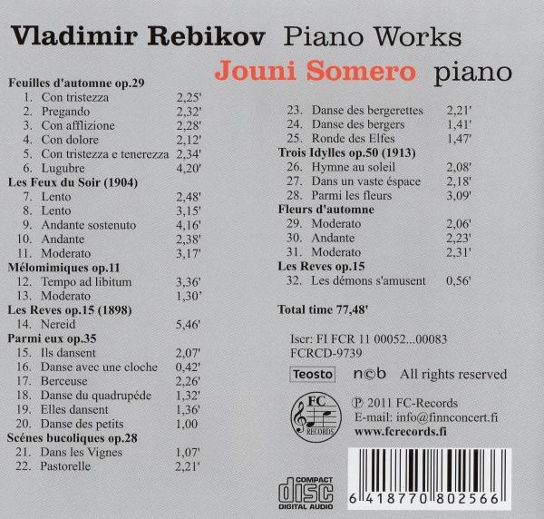 Vladimir Rebikov - Piano Works